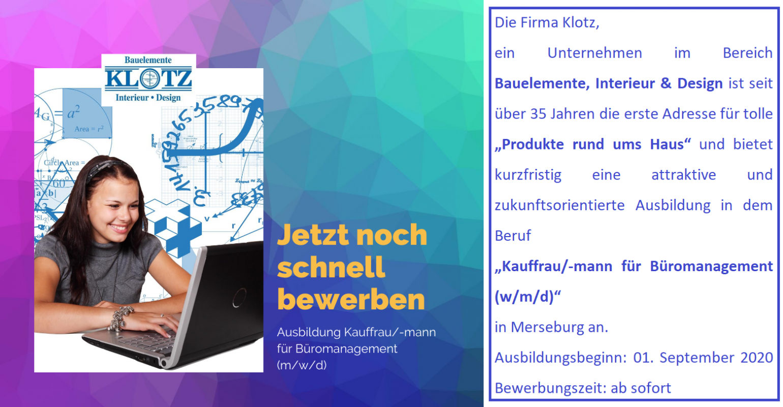 Kauffrau/-mann für Büromanagement (w/m/d)