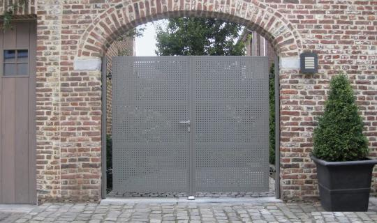 Stahlhoftor, Hoftor, Einfahrt