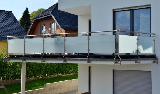 Geländer, Glasgeländer, Außengeländer, Innengeländer