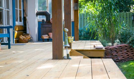 Echtholz, Bodenbelag, Terrasse, Dielen