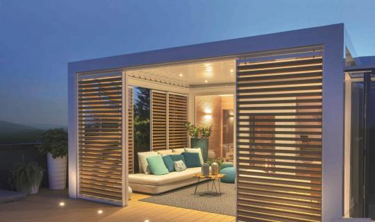 Gartenzimmer, Terrassenüberdachung